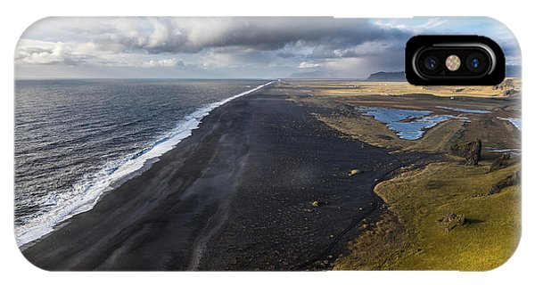 IPhone Case featuring the photograph Black Beach by James Billings