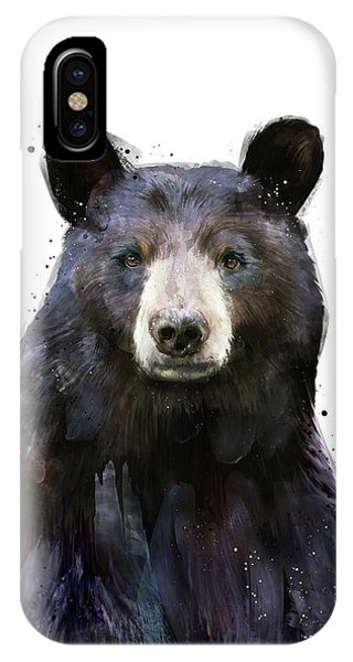 Fauna iPhone Case - Black Bear by Amy Hamilton