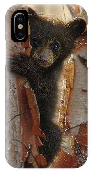 Black Bear Cub - Curious Cub II IPhone Case