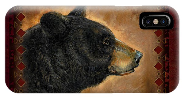 Wildlife iPhone Case - Black Bear Lodge by JQ Licensing