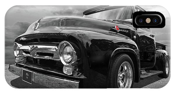 Trucking iPhone Case - Black Beauty - 1956 Ford F100 by Gill Billington