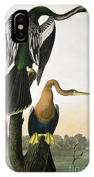 1851 iPhone X Case - Black Billed Darter by John James Audubon