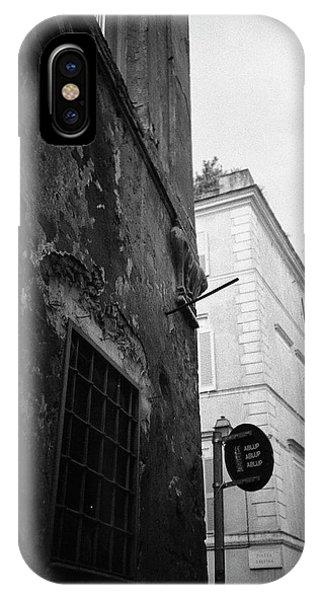Black Building, White Building IPhone Case