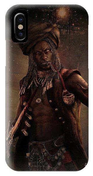 Black Caesar Pirate IPhone Case