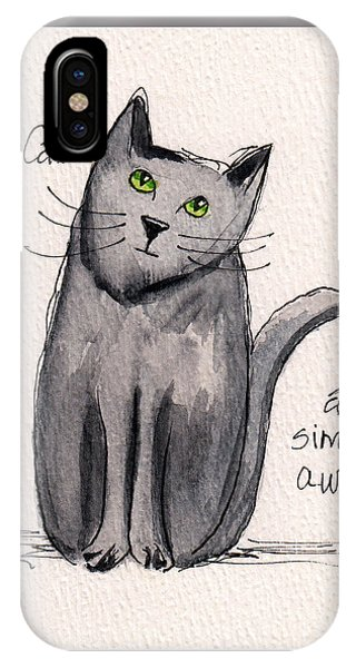 Black Cats Are Simply Awesome IPhone Case