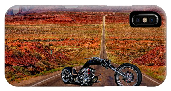 Black Chopper At Monument Valley IPhone Case