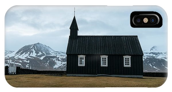 IPhone Case featuring the photograph Black Church Of Budir, Iceland by Michalakis Ppalis
