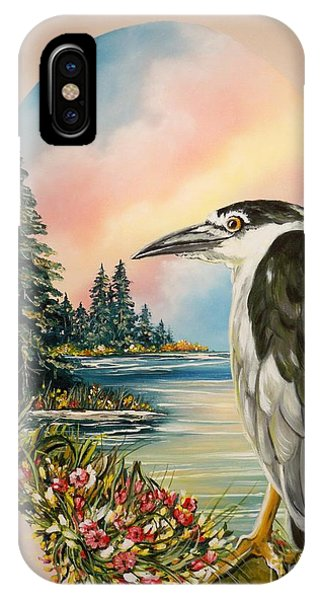 Flying Lamb Productions                     Black Crowned Heron IPhone Case