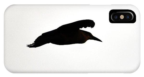 Black-crowned Night Heron Silhouette IPhone Case