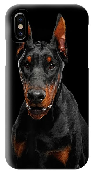 Black Doberman IPhone Case