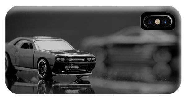 Black Dodge Challenger IPhone Case