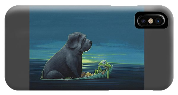 Amphibians iPhone Case - Black Dog by Jasper Oostland