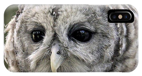 Black Eye Owl IPhone Case