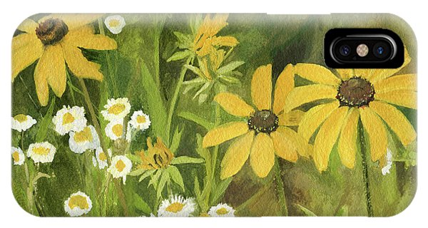 Black-eyed Susans In A Field IPhone Case