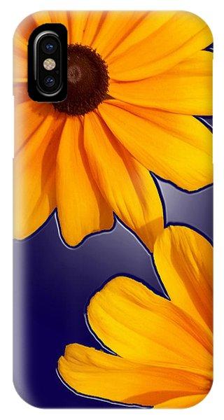 Black-eyed Susans On Blue IPhone Case