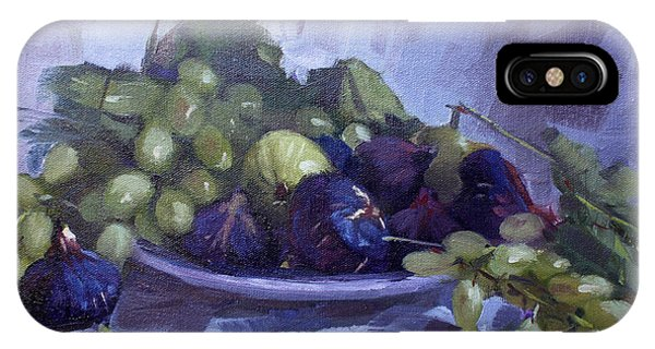 Grape iPhone X Case - Black Figs And Grape by Ylli Haruni