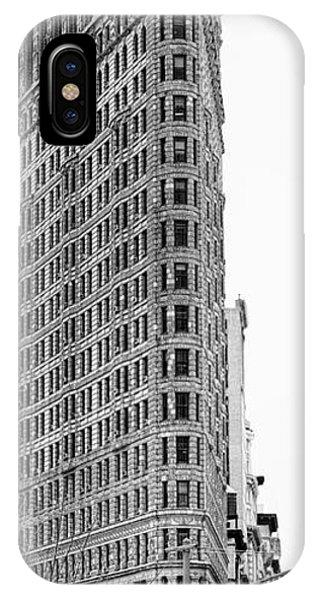 Black Flatiron Building II IPhone Case