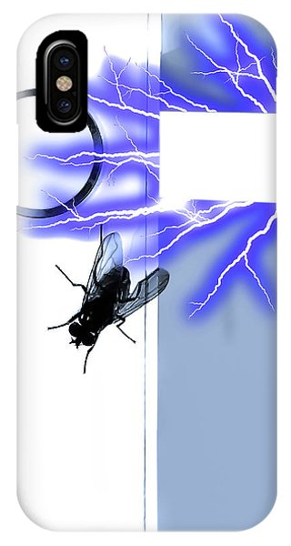 Black Fly On Tablet IPhone Case