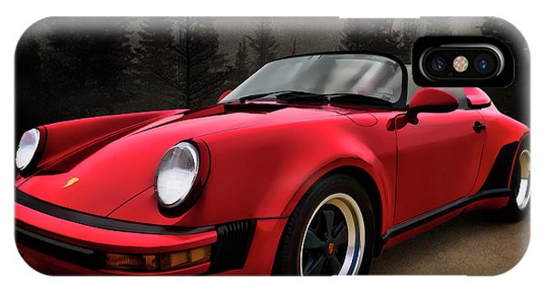 Black Forest - Red Speedster IPhone Case