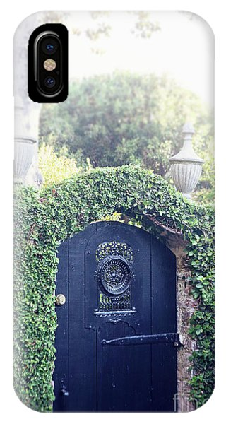 Black Garden Door IPhone Case
