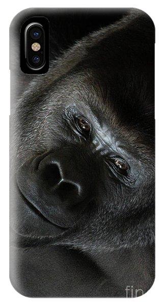 Black Gorilla Smile IPhone Case