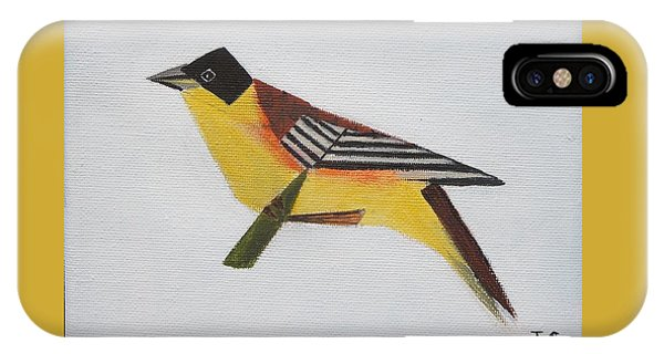 Black-headed Bunting IPhone Case