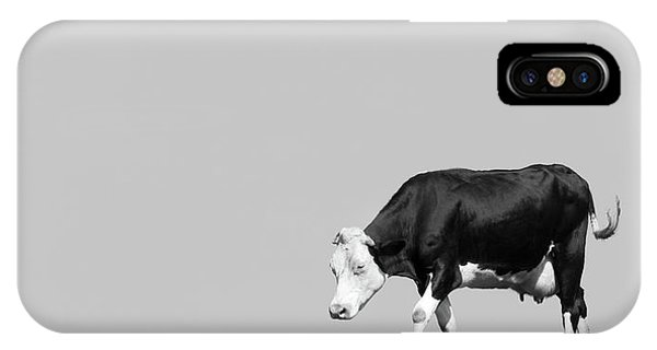 Farm iPhone Case - Black Hereford by Wim Lanclus