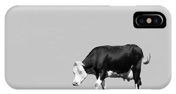 Farms iPhone Case - Black Hereford by Wim Lanclus
