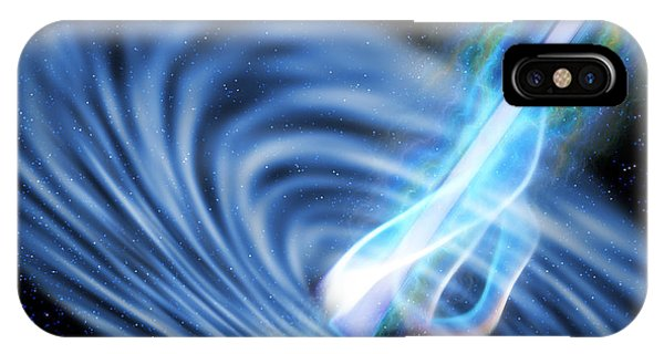 Endless iPhone Case - Black Hole Radiation by Corey Ford