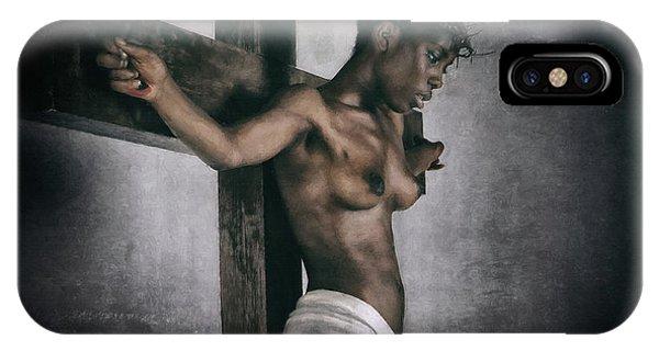 Black Jesus Painting IPhone Case