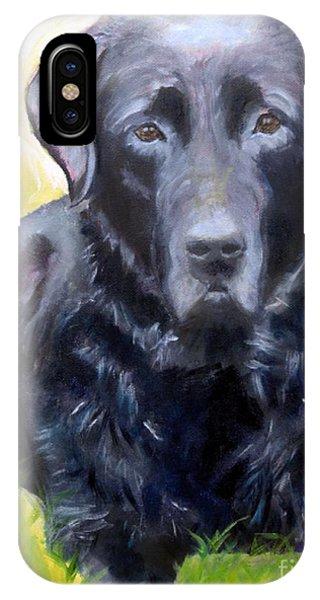 Black Lab Pet Portrait IPhone Case