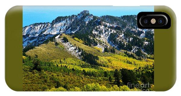 Black Mesa Rocky Peak In Autumn IPhone Case