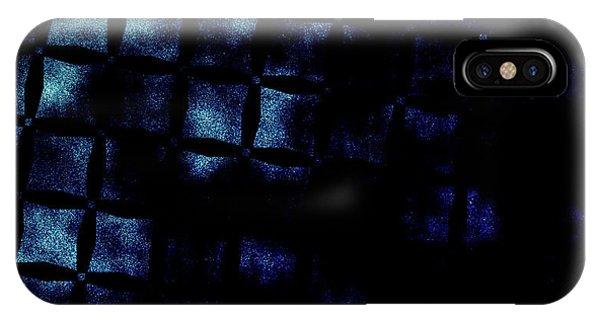 Black N Blue Burn IPhone Case