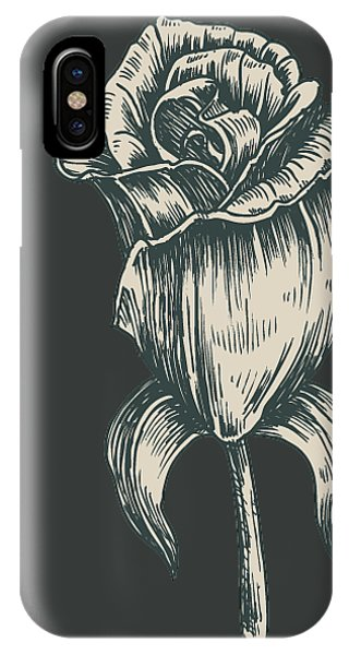 IPhone Case featuring the digital art Black On Black by ReInVintaged