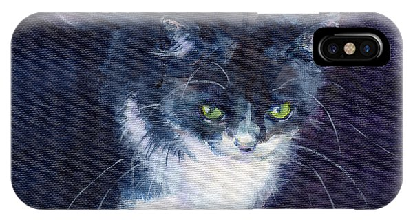 Midnite iPhone Case - Black On Blacl by Kimberly Santini