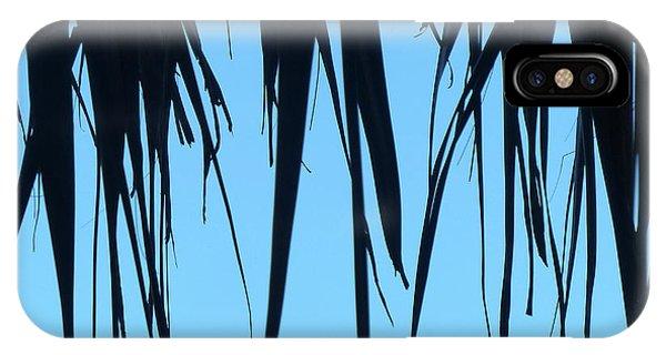 Black Palms On Blue Sky IPhone Case