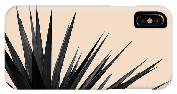 Black Palms On Pale Pink IPhone Case