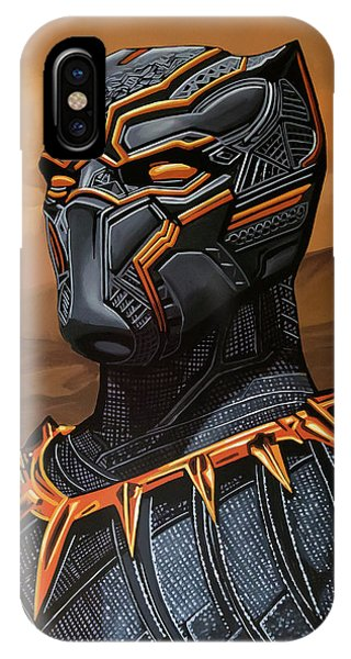 Lupita iPhone Case - Black Panther Painting by Paul Meijering