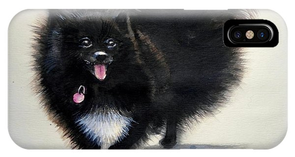 Black Pomeranian Dog 3 IPhone Case