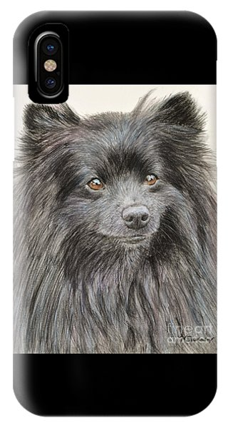 Black Pomeranian Painting IPhone Case