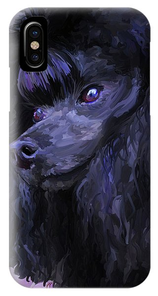 Black Poodle IPhone Case