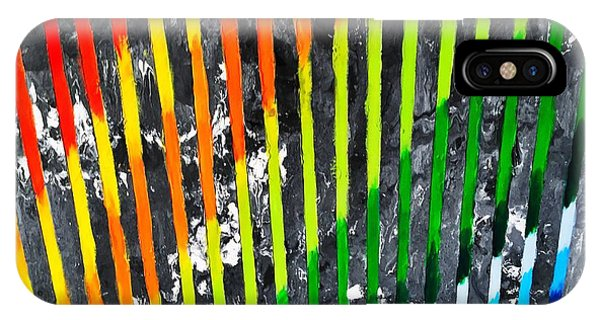 Black Rainbow IPhone Case