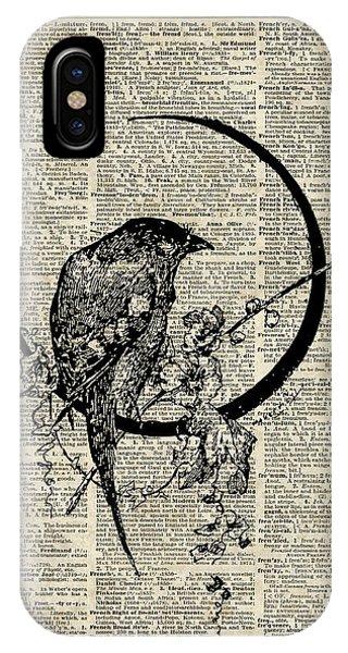 Raven iPhone Case - Black Raven Bird by Anna W