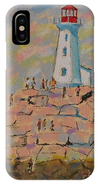 Black Rocks Of Peggy's Cove  IPhone Case