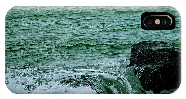 Black Rocks Seascape IPhone Case