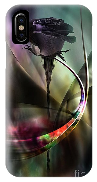 Black Rose In Color Symphony IPhone Case