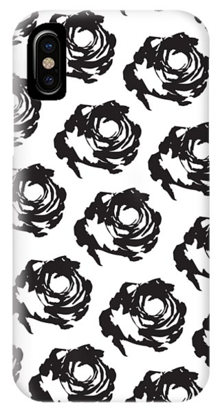 Black Rose Pattern IPhone Case