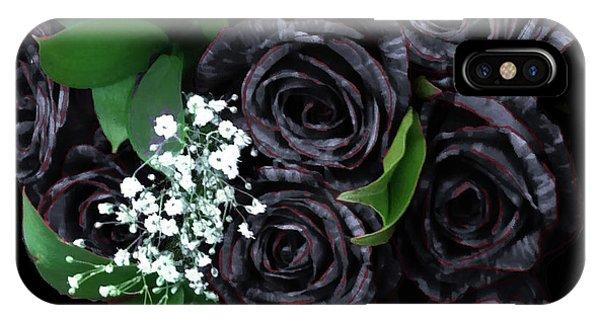 Black Roses Bouquet IPhone Case