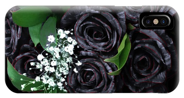 Black Roses Bouquet IPhone Case