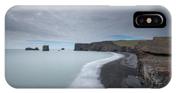 Black Sand iPhone Case - Black Sand Beach by Michael Ver Sprill